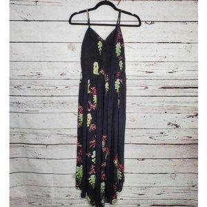 Free People Beau Smocked Printed Slip Dress Sz S